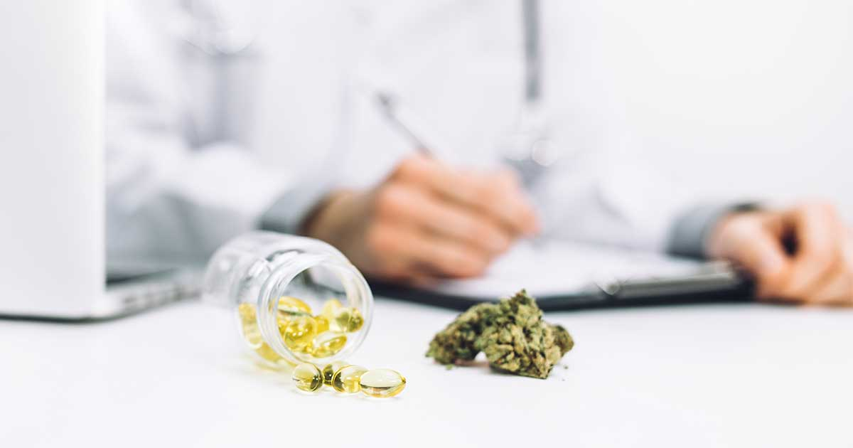 a doctor with medical marijuana